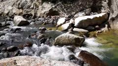 Water stream at Cañón de Somoto in Nicaragua Stock Footage