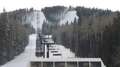 Ski Lift in Sante Fe Stock Footage