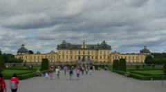 Drottningholm palace, stockholm, sweden, timelapse, zoom in, 4k Stock Footage
