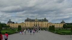 STOCKHOLM - SWEDEN, AUGUST 2015: drottningholm palace, timelapse, zoom in Stock Footage