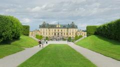 STOCKHOLM - SWEDEN, AUGUST 2015: drottningholm palace, timelapse, zoom out Stock Footage