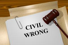 Civil Wrong concept - stock illustration
