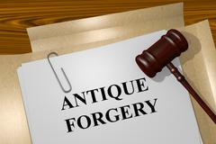Antique Forgery concept Stock Illustration