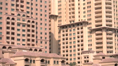 Buildings in residential area of The Pearl Qatar, close to Doha Stock Footage