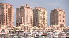 Residential area of The Pearl Qatar, close to Doha Stock Footage