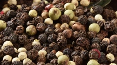 Fresh Organic Peppercorns Stock Footage