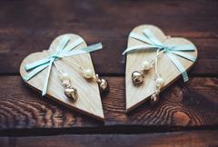 Decorative valentine hearts - stock photo
