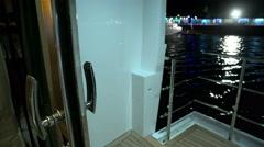 Balcony in main cabin on a luxury yacht  Stock Footage