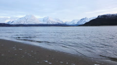 Mountain landscape and fresh waters above the arctic circle Stock Footage
