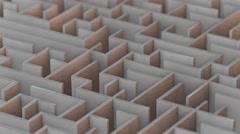 Warm Isometric Maze  Stock Footage
