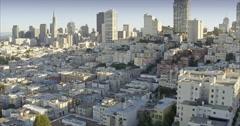 Aerial San Francisco Skyline, Neighborhood Stock Footage