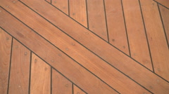 Detail of wooden floor on a dhow  Stock Footage