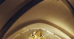 Saint-Thiebaut statue (Saint-Theobald collegiate church) Stock Footage
