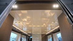 Fancy salon on a luxury maxi yacht  Stock Footage