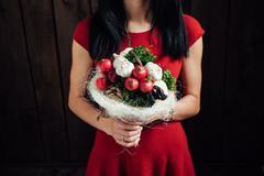 Original bouquet of vegetables and fruits Kuvituskuvat