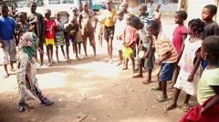 Africa kids dancing cancuran - stock footage