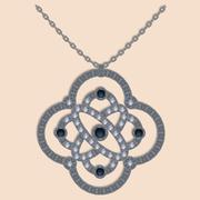 Brilliant necklace vector - stock illustration