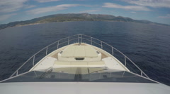 Bow of a boat navigating in the Mediterranean sea - stock footage