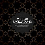 Vector illustration of a modern invitation. - stock illustration