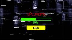 Upload lies progress bar Stock Footage