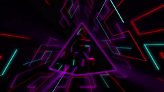 Color Tech Pyramid 4K Vj Loop 03 Stock Footage