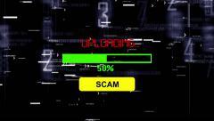 Upload scam progress bar - stock footage