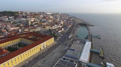 Aerial View of Commerce Square - Praca do Comercio - in Lisbon, Portugal - stock footage