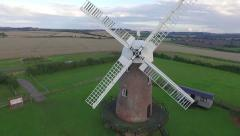 Vertical climb of an Historic Windmill Stock Footage