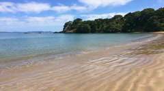 Landscape view of Coopers Beach Northland New Zealand Stock Footage