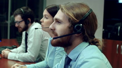Call Center Service Stock Footage