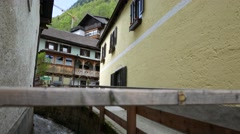 Streets of Hallstatt, Austria Stock Footage