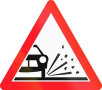 Warning sign used in Switzerland - loose chippings Stock Illustration