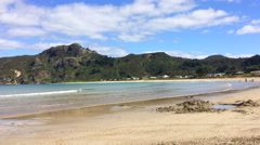 Taupo Bay in Mangonui Northland New Zealand Stock Footage