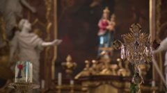 Altar of Baroque chapel - stock footage