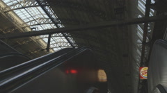 Amsterdam Centraal Entering from Escalator - ungraded: c-log Stock Footage