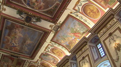 Ceiling paintings at Palace Esterhazy Stock Footage