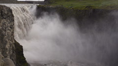 Dettifoss on Iceland: Europe's largest waterfall, slow motion shot Stock Footage