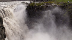 Dettifoss on Iceland: Europe's largest waterfall, slow motion shot at 240fps Stock Footage