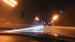 timelapse Driving at high speed through on city streets - stock footage