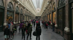 BRUSSELS - BELGIUM, AUGUST 2015: Galeries Royales Saint Hubert, timelapse Stock Footage