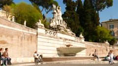 The Piazza del Popolo in Rome Stock Footage