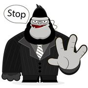 gorilla guard strong - stock illustration