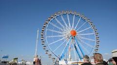 Big wheel at Oktoberfest Stock Footage