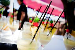 Outdoor catering. Food events and celebrations Stock Photos