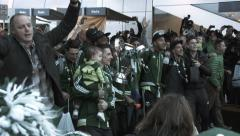 Portland Timbers Dancing With MLS Cup Stock Footage