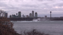 Up River View of Niagara Falls Stock Footage