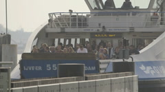 Amsterdam Ferry arrives at NDSM - graded Stock Footage