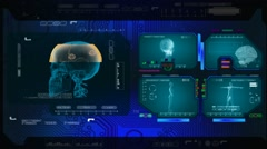 Skull  - Advanced Scanning - blue 00 - stock footage