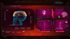 Skull  - Advanced Scanning - pink 00 - stock footage