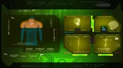 Stock Video Footage of Digestion - Advanced Scanning - green 00